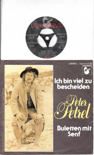 Ich bin viel zu bescheiden / Buletten mit Senf / Peter Petrel / Bildhülle 1980 HANSA # S 102 613 / 7