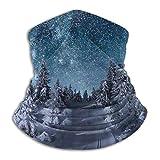 Bokueay Cuello WCalentador de cuello armer Bufanda de cuello de esquí Calentador de cuello de esquí Polaina para la cabeza Máscara solar facial Bufanda mágica Bandana Balaclava