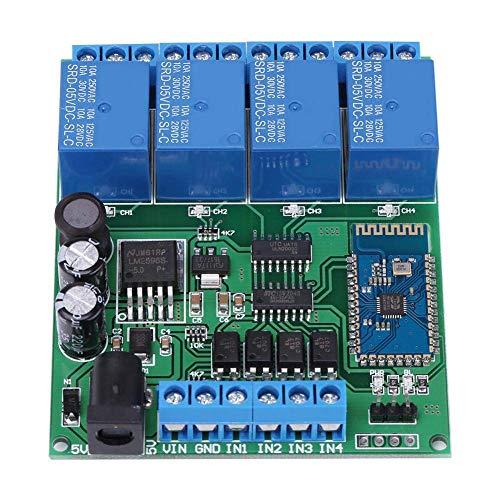 YHtech 4 Módulo de relé Bluetooth Canal, 2.1Relay módulo inalámbrico Bluetooth Bluetooth Remoto del Interruptor del relé de Control, 6-10 m de Distancia de Comunicación Herramientas industriales