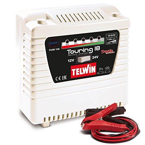 Telwin Elements TOURING 18 autoacculader voor 12 V/24 V batterijen, laadstroom tot 13 A, capaciteit tot 180 Ah