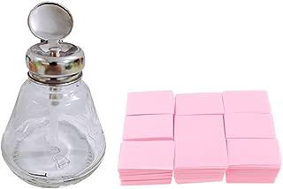Perfeclan 700PCS Lint Free Nail Wipes Cotton Pads with 1PCS Push Down Pump Dispenser Bottle Set for Professional Soak Off Acrylic Nail Polish Removing
