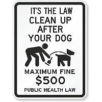 おかしいパブの家の装飾のアルミニウム金属の印、それはあなたの犬の罰金の公衆衛生法の後にクリーンアップするその法律(と、ヴィンテージの装飾的なティンサインを飲む壁の道路標識のギフトギフトの装飾ポスター