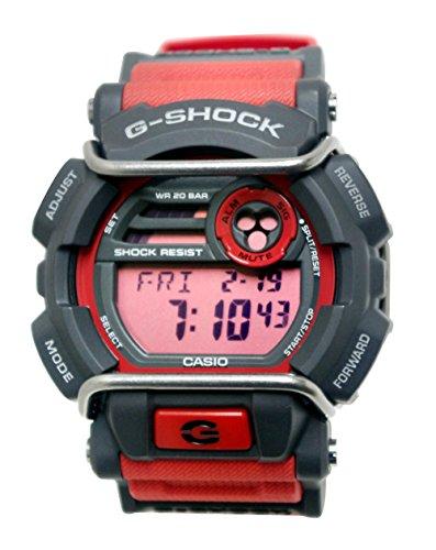 Orologio Casio display cinturino Tessuto Rosso e quadrante Grigio GD-400-4CR