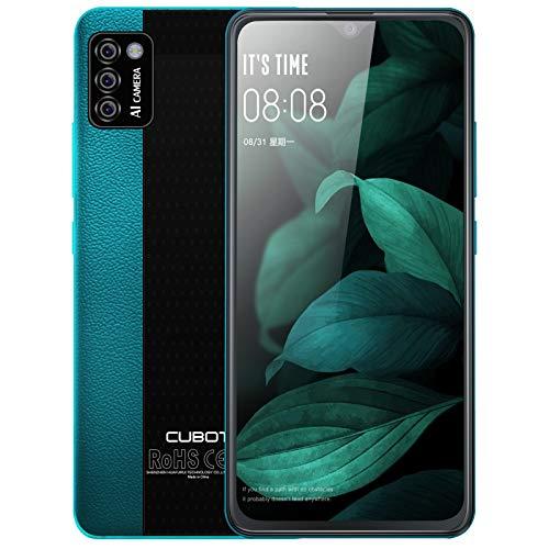 CUBOT Note 7 - Smartphone Android sin contrato, 3 cámaras, pantalla de 5,5 pulgadas, 16 GB/2 GB de RAM, Dual SIM, teléfono móvil 4G, versión alemana (verde)