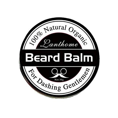 Lot de 3 baumes à barbe 100 % cire bio naturelle pour homme