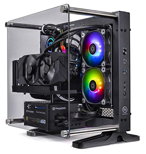 Thermaltake LCGS P-101 AIO Liquid Cooled CPU Gaming PC (AMD RYZEN 5 3600X 3.8Ghz, TOUGHRAM DDR4 3200Mhz RGB 16GB, NVIDIA GeForce RTX 2060 Super 8GB, Gen4 M.2 1TB, WiFi, Win 10 Pro) P1BK-X570-AP1-LCS