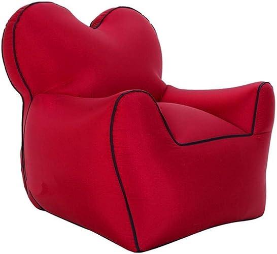 A-Qnice Canapé gonflable d'air de sofa de chaise longue portatif anti-air qui fuit le divan gonflable de poche avec le sac de transport pour le camping extérieur, les pique-niques, la piscine, le voya