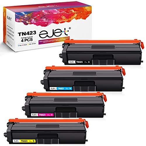 ejet Kompatibel Tonerkartusche als Ersatz für Brother TN-423 TN423 TN-421 TN421 MFC-L8690CDW MFC-L8900CDW HL-L8260CDW HL-L8360CDW DCP-L8410CDW (Schwarz,Cyan,Gelb,Magenta, 4er-Pack)