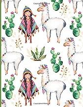Sketchbook: Peruvian Girl Alpaca Llama Cactus Cute Sketchbook (Sketchbooks)