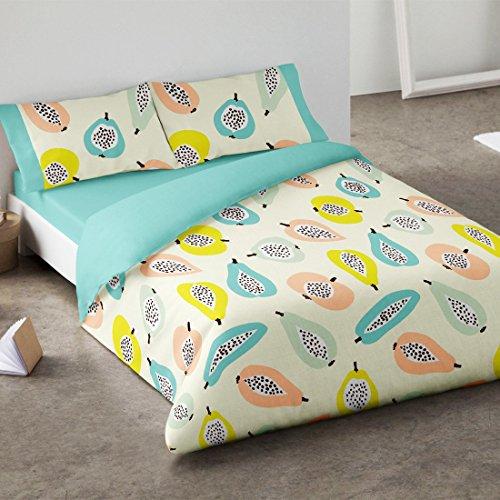 Burrito Blanco - Juego de Funda nórdica 405 para cama 150x190/200 cm, color azul