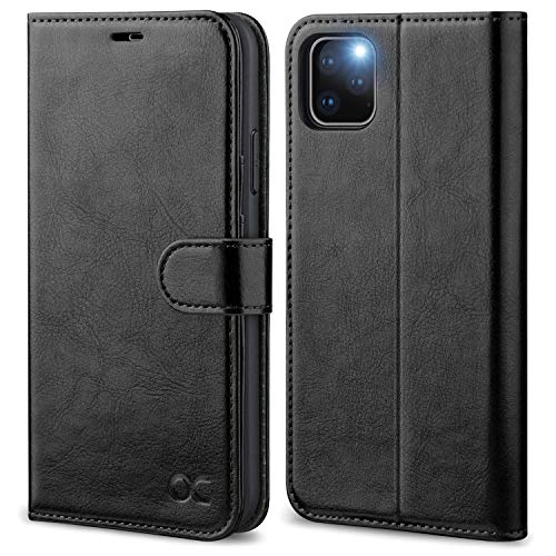 OCASE Wallet Case Designed for iPhone 11 Pro Max Case [Card Slot] [Kickstand] [TPU Shockproof Interior Protective Case] Leather Flip Phone Cover for iPhone 11 Pro Max 6.5 inch 2019(Black)