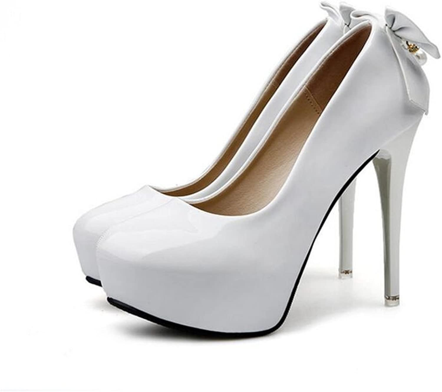 Cloudless High Heels, Womens Round Toe Slip on Stilettos Party Wedding Pumps Basic shoes