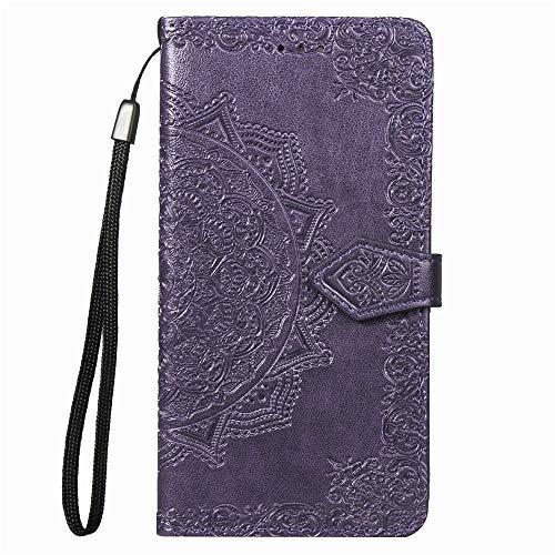 Hülle für Galaxy Note 8 Hülle Handyhülle [Standfunktion] [Kartenfach] Tasche Flip Hülle Cover Etui Schutzhülle lederhülle flip case für Samsung Galaxy Note8 - DESD010441 Violett