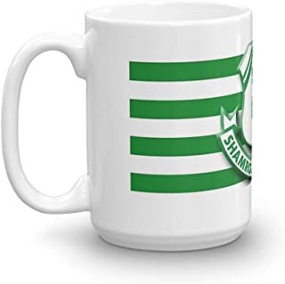Shamrock Rovers. 15 Oz Fine Ceramic Mug With Flawless Glaze Finish. 15 Oz Ceramic Glossy Mugs With Easy Grip Handle, Give A Classic For Look And Feel