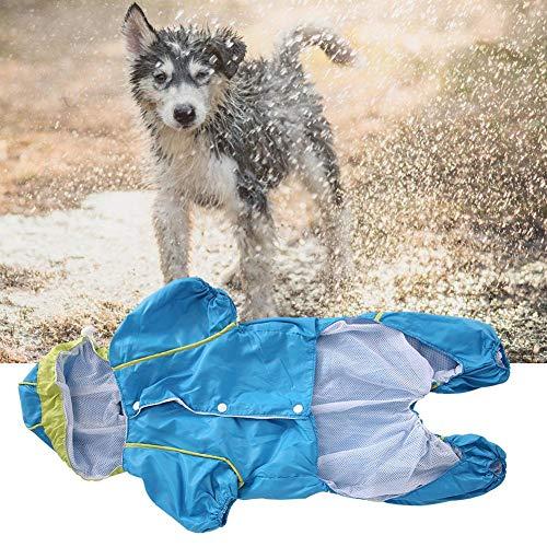 Simlug Pet Waterproof Raincoat Pet Hooded Raincoat, Dog Raincoat, Blue Pet Hooded Raincoat Waterproof Pet Raincoat Pet Puppy Raincoat for Dog Dog Coat(XL)