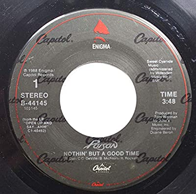 enigma 45 RPM NOTHIN BUT A GOOD TIME / LOOK BUT YOU CANT TOUCH