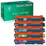 GREENSKY Cartouche de Toner Compatible Remplacement pour Brother TN241 TN245 pour DCP-9020CDW DCP-9015CDW HL-3140CW HL-3150CDW HL-3170CDW MFC-9140CDN MFC-9130CW MFC-9330CDW MFC-9340CDW (5 Paquets)