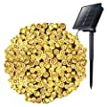 Outdoor Solar String Lights with 8 Lighting Modes, 72 Feet 200LED Waterproof Solar Powered Lights for Indoor Outside Xmas Patio Garden Yard Wedding Party Tent Tree Decor, Warm White, 1 Pack
