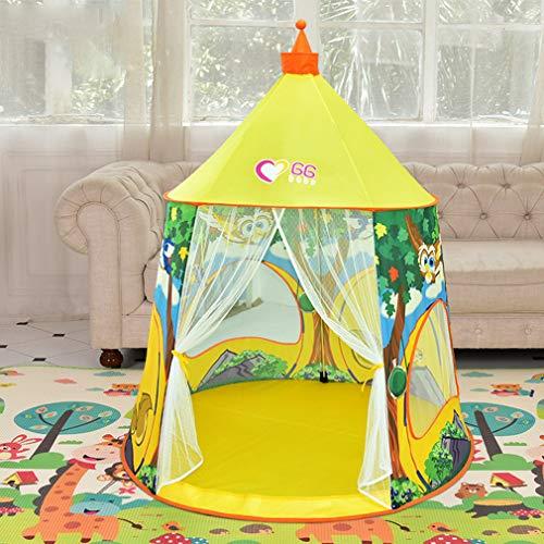 Speelhuis voor kinderen Tent Natuurlijk patroon Kinderen Speelgoed Tent Tipi Veiligheid Draagbaar Binnenspel Tenten Buitenspeelhuis voor kinderen Geschenken Decoratie,Yellow