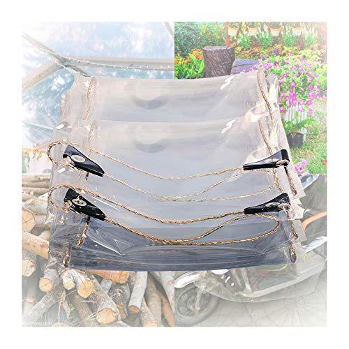 LWZ Klare Plane Hochleistungs wasserdicht mit Ösen, Premium-Planenabdeckung für Außenschutz, Dachabdeckung, Gartenschirm, Camping, Anti-Riss, UV-beständig