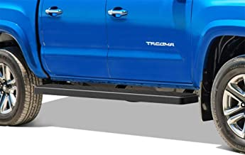 APS iBoard Running Boards 6in Black Custom Fit 2005-2020 Toyota Tacoma Double Crew Cab Pickup 4-Door (Nerf Bars Side Steps Side Bars)