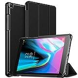 Robustrion Smart Trifold Hard Back Flip Stand Case for Samsung Tab A 8.0