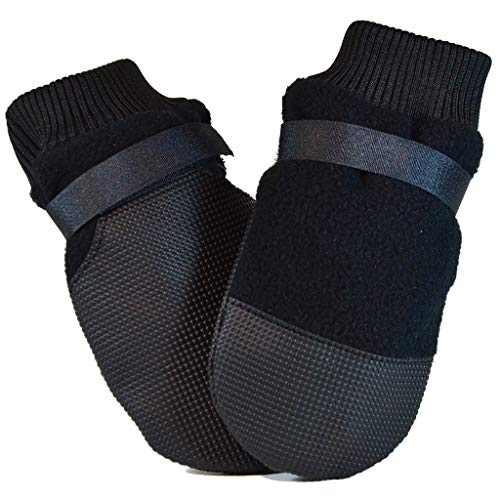 MUTTLUKS, Hott Doggers Dog Boots with Non-Skid Vinyl Soles for Indoor or Outdoor Use