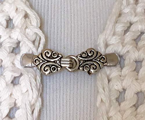 The mattie Petite Silver Tone Celtic Sweater Clip Clasp