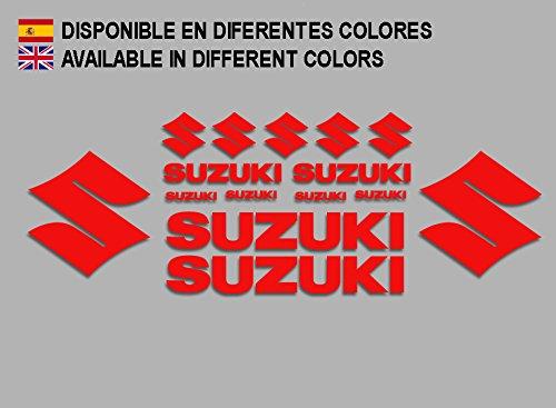 Ecoshirt IT-4FYZ-K3VG - Pegatinas Suzuki F191, Rojo