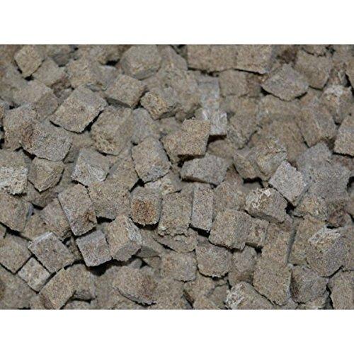 1000 ml getrocknete Tubifex Würfel, Leckerbissen für Zierfische und Schildkröten - Bachröhrenwürmer, FD - Futter
