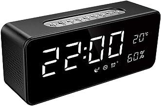 ZOUJIARUI Digitale wekker - Helder LED-display met helderheidsnooze voor slaapkamer kantoorreizen