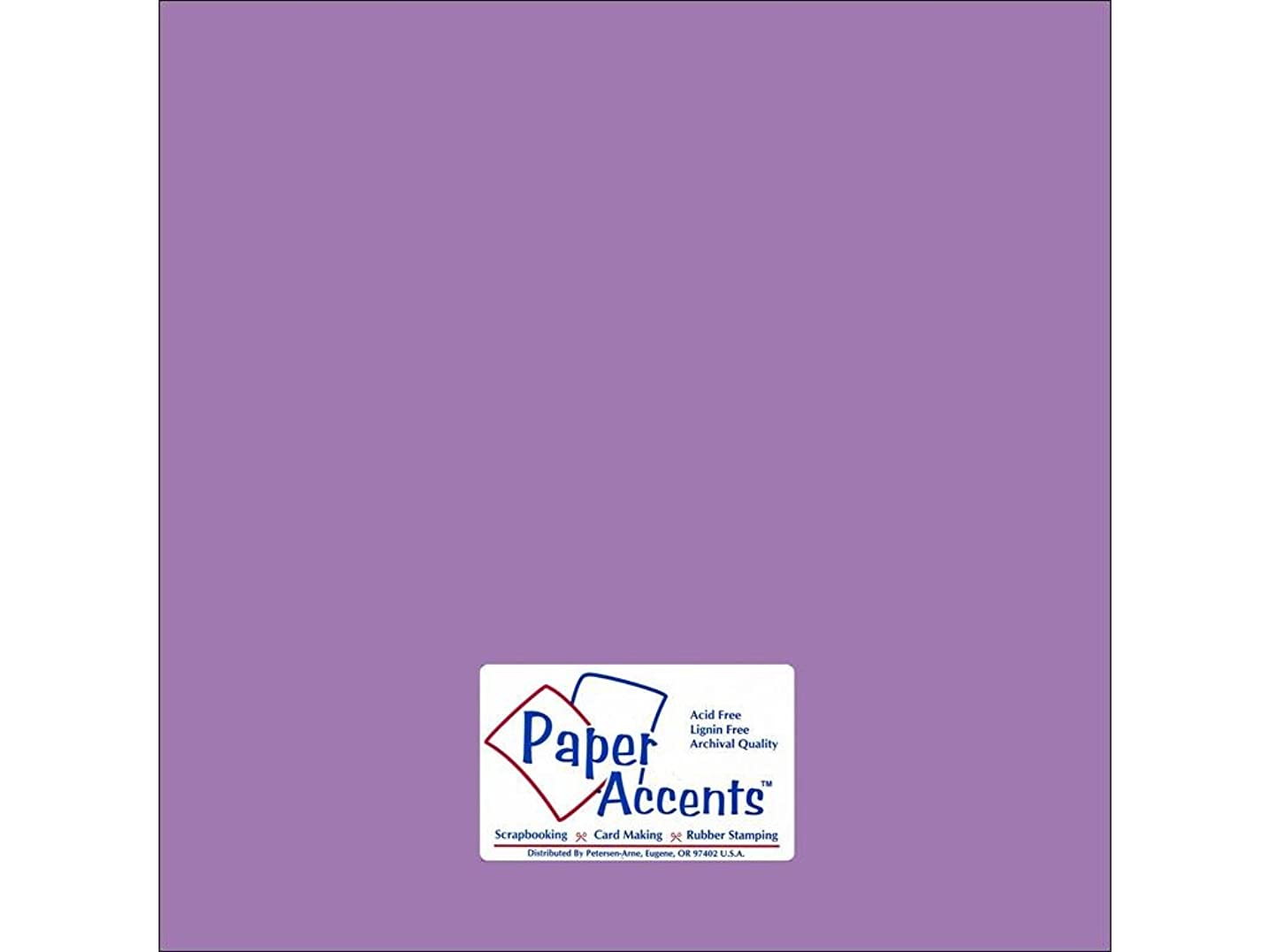 Accent Design Paper Accents Cdstk Smooth 12x12 74# Wild Pansy