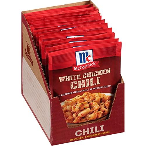 McCormick White Chicken Chili Seasoning Mix, 1.25 oz (Pack of 12)