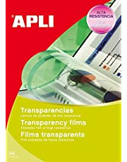 APLI 1230-Transparencias sin banda para inkjet 50 hojas
