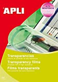 APLI 1230-Transparencias sin banda para inkjet 50 hojas...