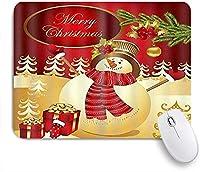 NIESIKKLAマウスパッド メリークリスリスマス雪だるまツリーボール ゲーミング オフィス最適 高級感 おしゃれ 防水 耐久性が良い 滑り止めゴム底 ゲーミングなど適用 用ノートブックコンピュータマウスマット