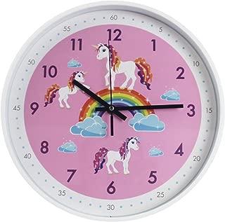TOHOOYO Pink Wall Clock,Silent Non Ticking Children's Décor Quiet Clocks for Kids Room,Office,School,Bedroom,Kitchen,Classroom (12 inch Pink)