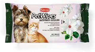 PET WIPES WHITE MUSK 40 PCS FOR DOG & CAT
