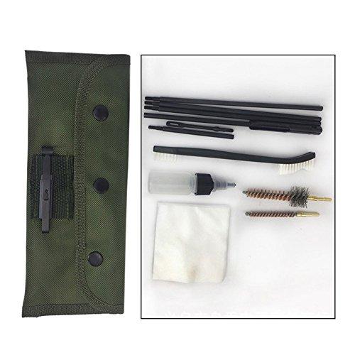 Crewell 22 22LR 223 556 Kit de Limpieza para Rifles con Bolsa de Transporte, Cepillo de Nailon para Caña de Pescar