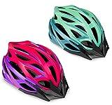 SPOKEY Femme - Casco de bicicleta para mujer con visera, 27 orificios de ventilación (turquesa, L 58-61 cm)