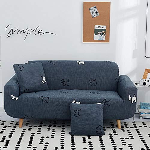 Elastica Funda Sofas Cubre para Sofa Couch Cover Funda Sillon,Funda de poliéster Moderna Sofá de Esquina Sofá,Protector de Silla de Spandex para Sala de Estar Sofá de Tela de 1/2/3/4 plazas-C_2 Plaza