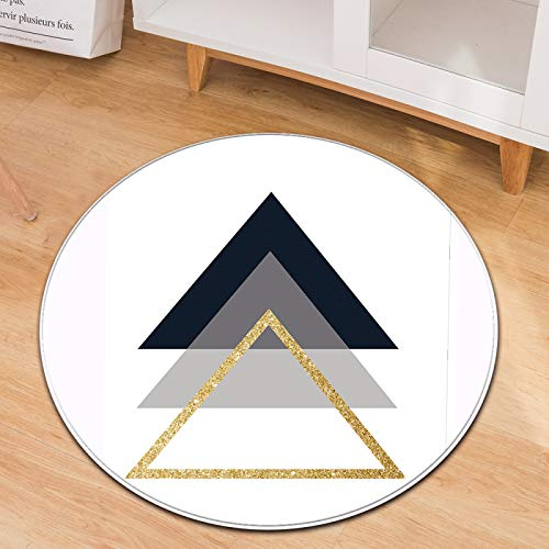 SSHHJ Geometric Pattern Circular Carpet Non-Slip Wear-Resistant Material Can Be Washed Suitable For Office Chair Cushions Bedroom Computer Chair Cushions
