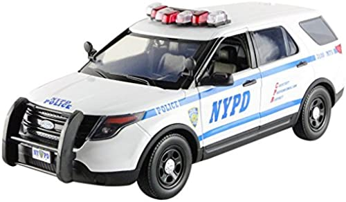 Grünlight Collectibles- 12973 Ford Interseptor Utility Police NYPD 2015 Weiß–  ab 1 18