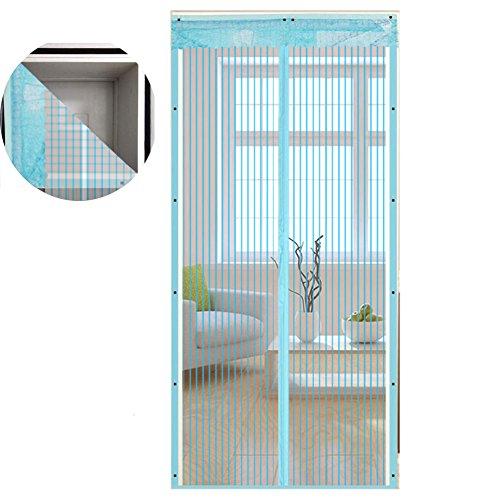 80x200 cm, Blanc EXTSUD Moustiquaire de Porte Magn/étique Fermeture Automatique Rideau Porte Anti insectes avec Aimants Sans Per/çage