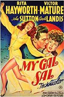 My Gal Sal Poster Movie B 11x17 Rita Hayworth Victor Mature John Sutton Carol...