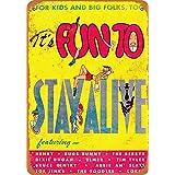 白い桜雑貨屋 看板 コカ 通販 レトロ ブリキ It's Fun to Stay Alive Cartoon 壁飾 アンティーク メタル レトロ 看板 販売(20x30cm)