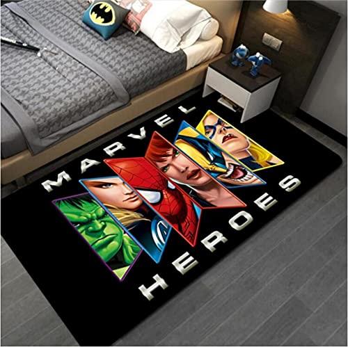 Lionpapa_mural Les Avengers Spiderman Tapis Dessin Animé Enfants Garçons Chambre Tapis Nordique Chambre Salon Couverture Enfants Tapis De Jeu 80X120Cm