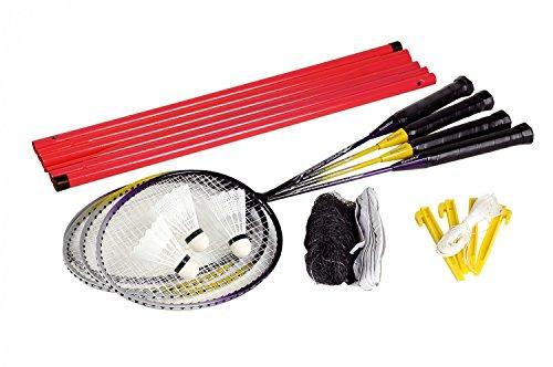 Badminton Set Bandito per quattro giocatori con il pacchetto reti