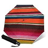Paraguas plegable de viaje, Beaui Serape mexicano automático TRIF-Old paraguas a prueba de viento para mujeres con protección UV Auto abierto y cierre