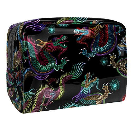 Maquillage Cosmetic Case Multifunction Travel Toiletry Storage Bag Organizer for Women - Broderie Chinese Dragons
